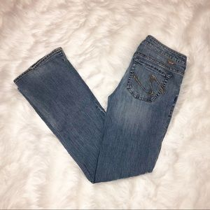 Silver jeans toni light was bootcut size 31/33